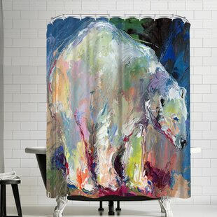 Richard Wallich Polar Bear Single Shower Curtain