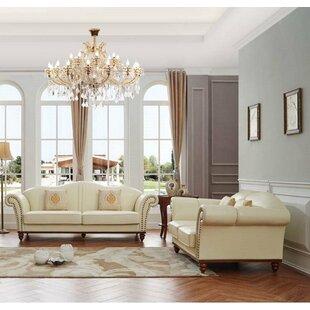 4 Piece Leather Living Room Set