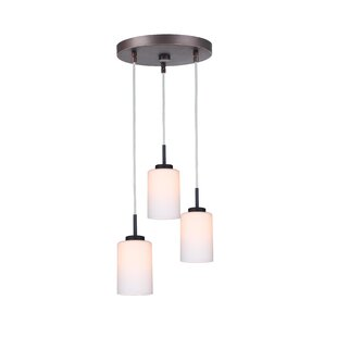 Big Save Sadowski 3-Light Glass Shade Cluster Pendant By Wrought Studio