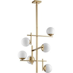 Everly Quinn Calion 6-Light Shaded Chandelier