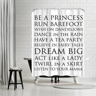 East Urban Home Amy Brinkman Be A Princess Black Shower Curtain