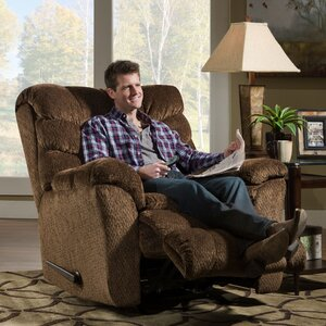 Camella Heat and Massage Rocker Recliner by Simmons Upholstery