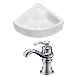 Affordable Ceramic 26 Wall-Mount Bathroom Sink with Faucet By Royal Purple Bath Kitchen