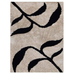 Best Reviews Upchurch Hand-Tufted Beige/Black Area Rug By Winston Porter