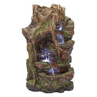Wildon Home ® Resin Illuminated Garden Fountain with LED Light
