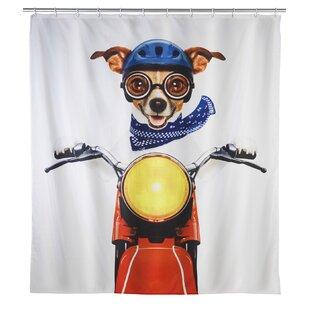 Biker Dog Single Shower Curtain