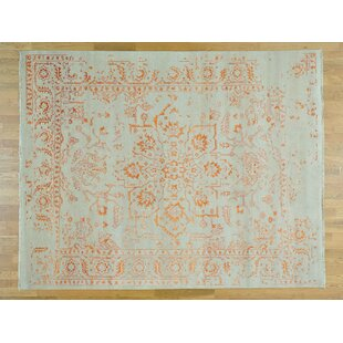 Best One-of-a-Kind Beare Broken Design Handwoven Ivory Wool/Silk Area Rug By Isabelline