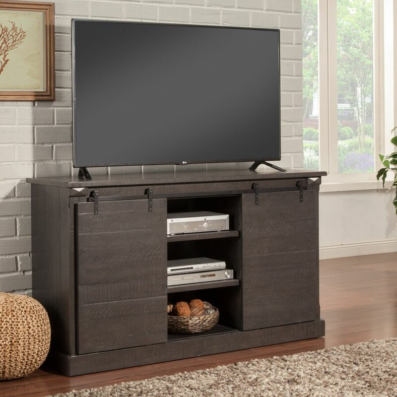 """17 Stories Benefield TV Stand for TVs up to 65""""  Color: Grey"""