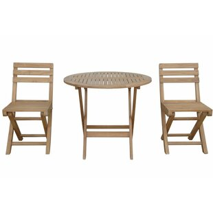 Chester 3 Piece Teak Bistro Set by Anders..