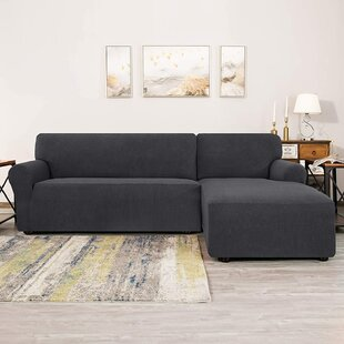 Box Cushion Chaise Lounge Slipcover By Mercury Row