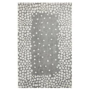 Buy Carlos  100% Cotton Hand-Woven Gray Area Rug ByHarriet Bee