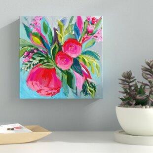 bright floral wall art wayfair