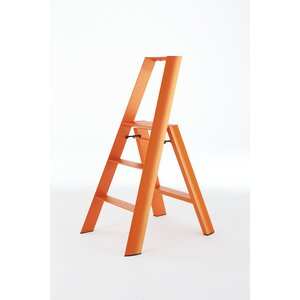 3.83 ft Aluminum Step Ladder with 300 lb. Load Capacity