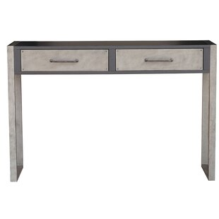 Williston Forge Bledsoe Industrial Distressed 2 Drawers Storage Console Table
