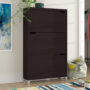 Order 18-Pair Wood Shoe Storage Cabinet By Latitude Run
