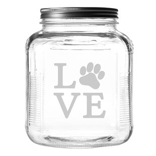 Love Paw 4 qt. Pet Treat Jar