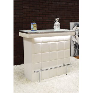 Waldrop Bar with Wine Storage