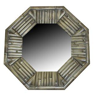 Bayou Breeze Hempstead Wood Garden Accent Mirror