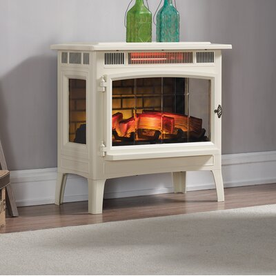 Duraflame Electric 3D Flame Effect Infrared Quartz Electric Stove Finish: Cream