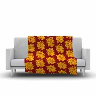 Roberlan New York City Brush Pattern Vector Fleece Blanket ByEast Urban Home