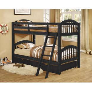 Auerbach Twin over Twin Bunk Bed with Trundle/Drawers Convertible By Harriet Bee