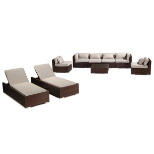 Maui 9 Piece Sectional Set with Cushions