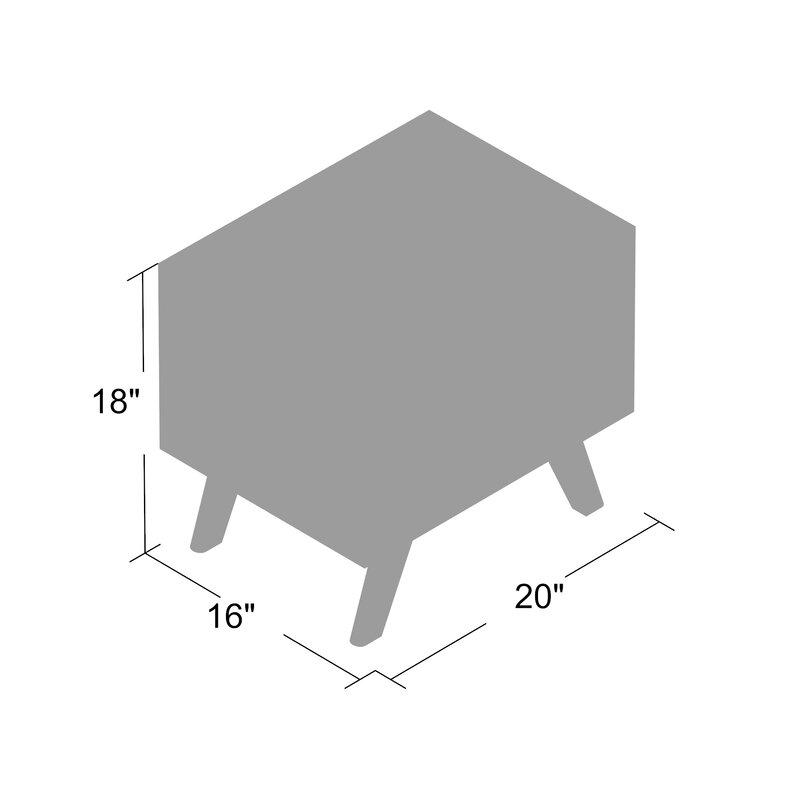 f176e32a Modern Rustic Interiors Rocco 2 Drawer Nightstand & Reviews | Wayfair