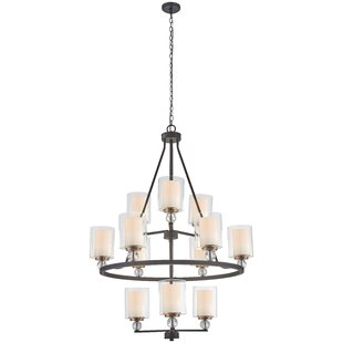 Ivy Bronx Gipe 12-Light Shaded Chandelier