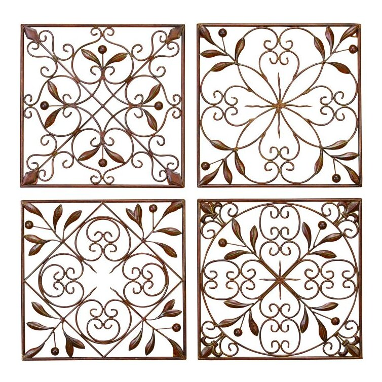 Wall Decor Set cole & grey 4 piece metal wall décor set & reviews | wayfair