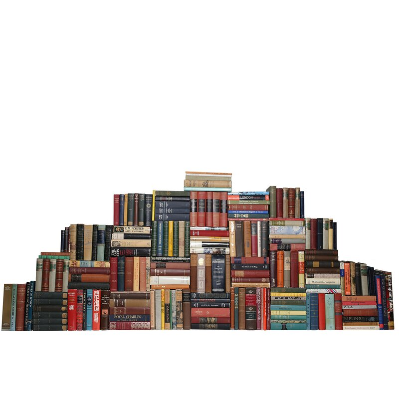 Booth Williams 200 Piece Curated Vintage British Library Authentic Decorative Books Set Wayfair