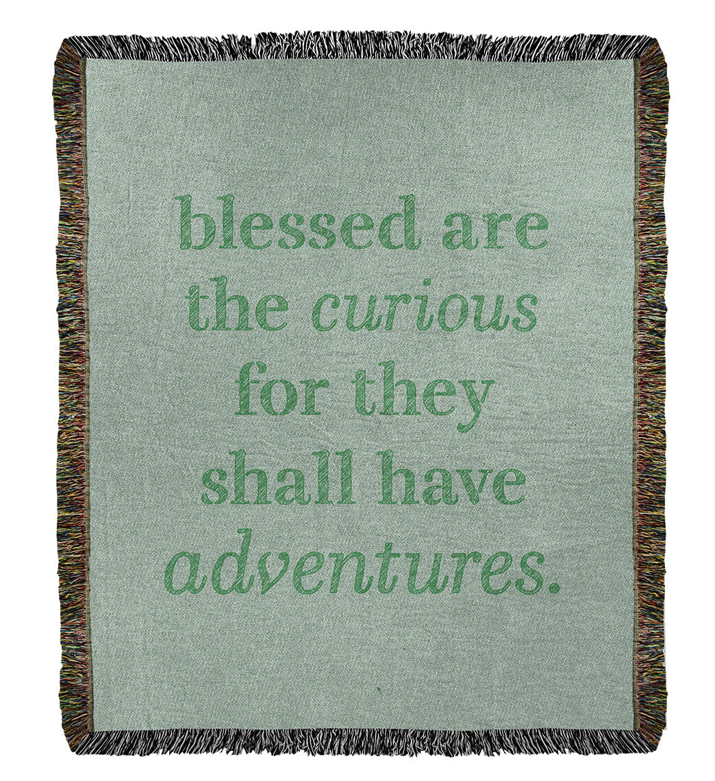 East Urban Home Handwritten Curiosity Inspirational Quote Cotton Woven Blanket Wayfair
