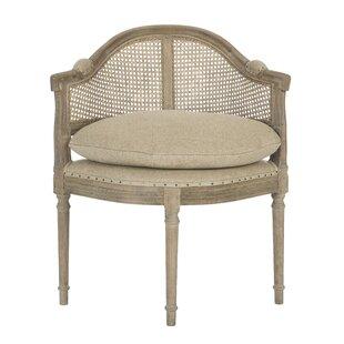 Aidan Gray Blue Cane Back Barrel Chair