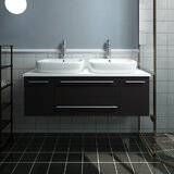 Lucera 48 Wall Hung Double Bathroom Vanity by Fresca