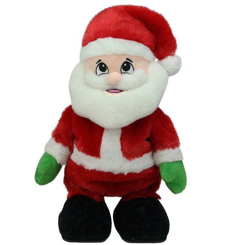 animated tickle n laugh santa claus plush christmas figure - Stuffed Santa Claus