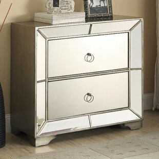 Monterey 2 Drawer Mirrored Chest by Bombay Heritage