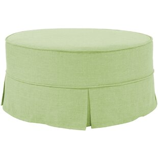 Fenham Round Skirted Pouf by Rosecliff Heights