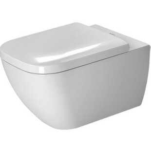Duravit Happy D.2 Wall Mounted Washdown Rimless 1.6 GPF Elongated Toilet B..