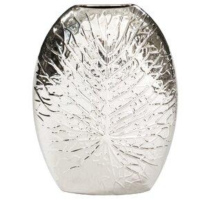 Labbe Modern Crackled Leaf Table Vase
