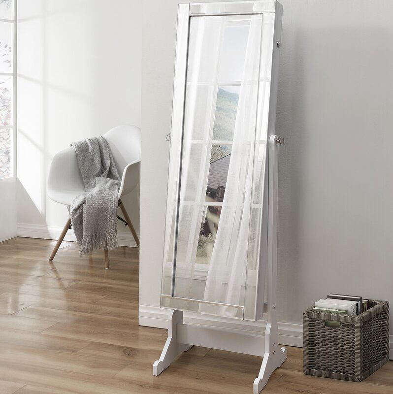 Inspired Home Co Dazzle Full Length Jewelry Armoire with Mirror