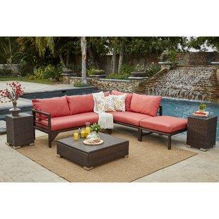 Sarver 6 Piece Rattan Conversation Set with Cushions