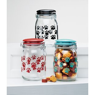 Find for Pet Paw 1.12 qt. Pet Treat Jar By Global Amici