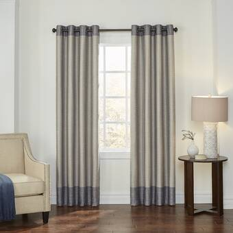 Winston Porter Keerie Abstract Max Blackout Thermal Grommet Single Curtain Panel Reviews Wayfair