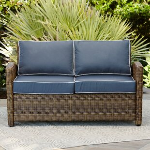 Reviews Lawson Wicker Loveseat with Cushions By Birch Lane™