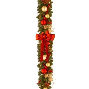 decorative pre lit cozy christmas garland