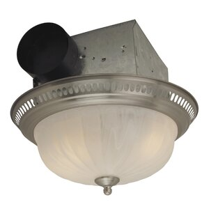Decorative Designer Bath Fan with Light in Stainless Steel