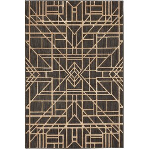 Rankin Sketchy Black/Gold Area Rug