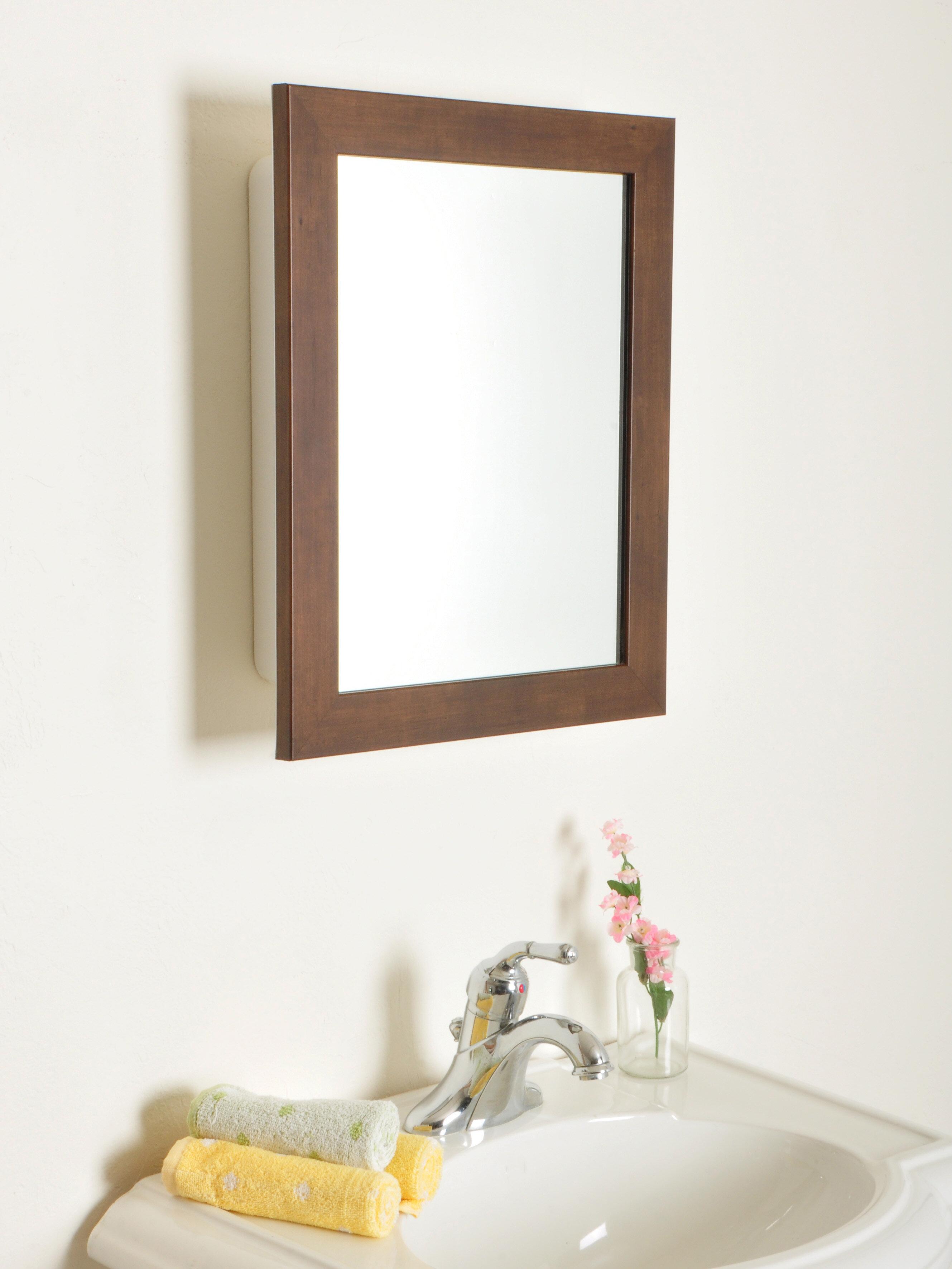 Picture of: Latitude Run Raif Recessed Framed 1 Door Medicine Cabinet Wayfair