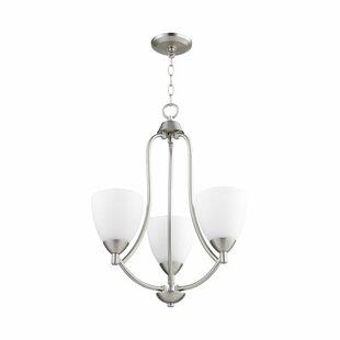 Brophy 3-Light Shaded Chandelier by Fleur De Lis Living