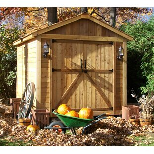SpaceMaker 8 Ft. W X 12.5 Ft. D Solid Wood Storage Shed By Outdoor Living Today