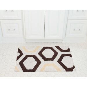 Honeycomb Cotton Bath Mat